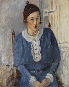 Lazare Volovick (Ukrainian, 1902-1977) Madame Volovick a la Ruche (Painted c. 1920 )