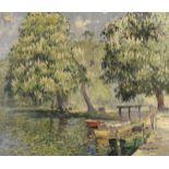 William Hoggatt (British, 1879-1961) The park in summer
