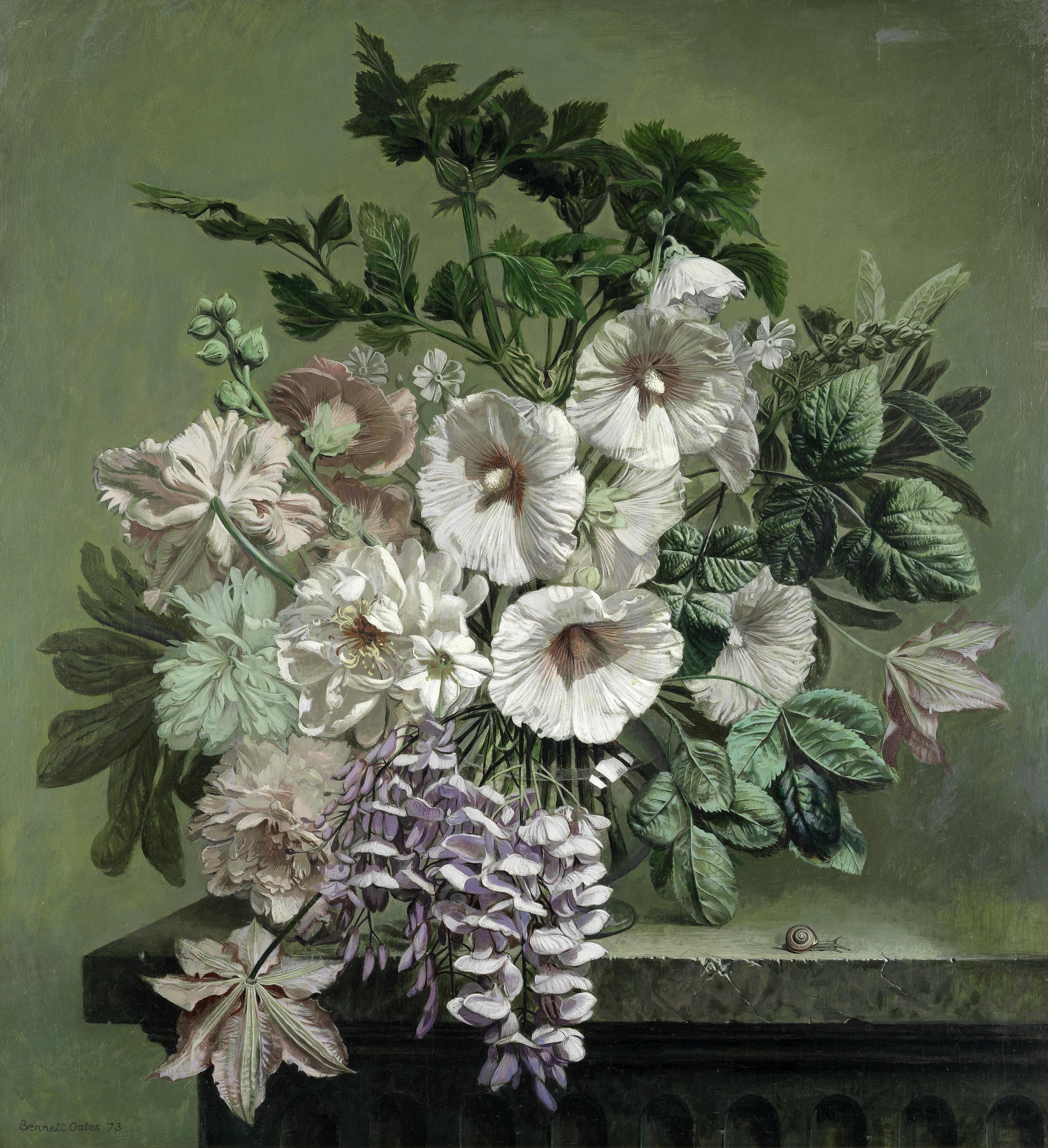 Bennett Oates (British, 1928-2009) Still life of flowers