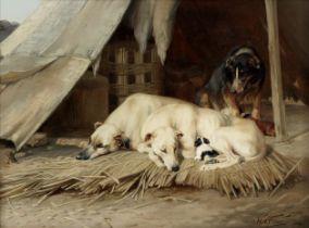 William Henry Hamilton Trood (British, 1860-1899) A happy family