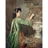 Minnie F. W. Gilbert (British late 19th century) Arranging flowers