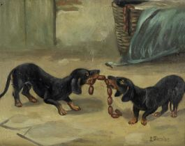 L. Garnier (20th Century) Tug of war