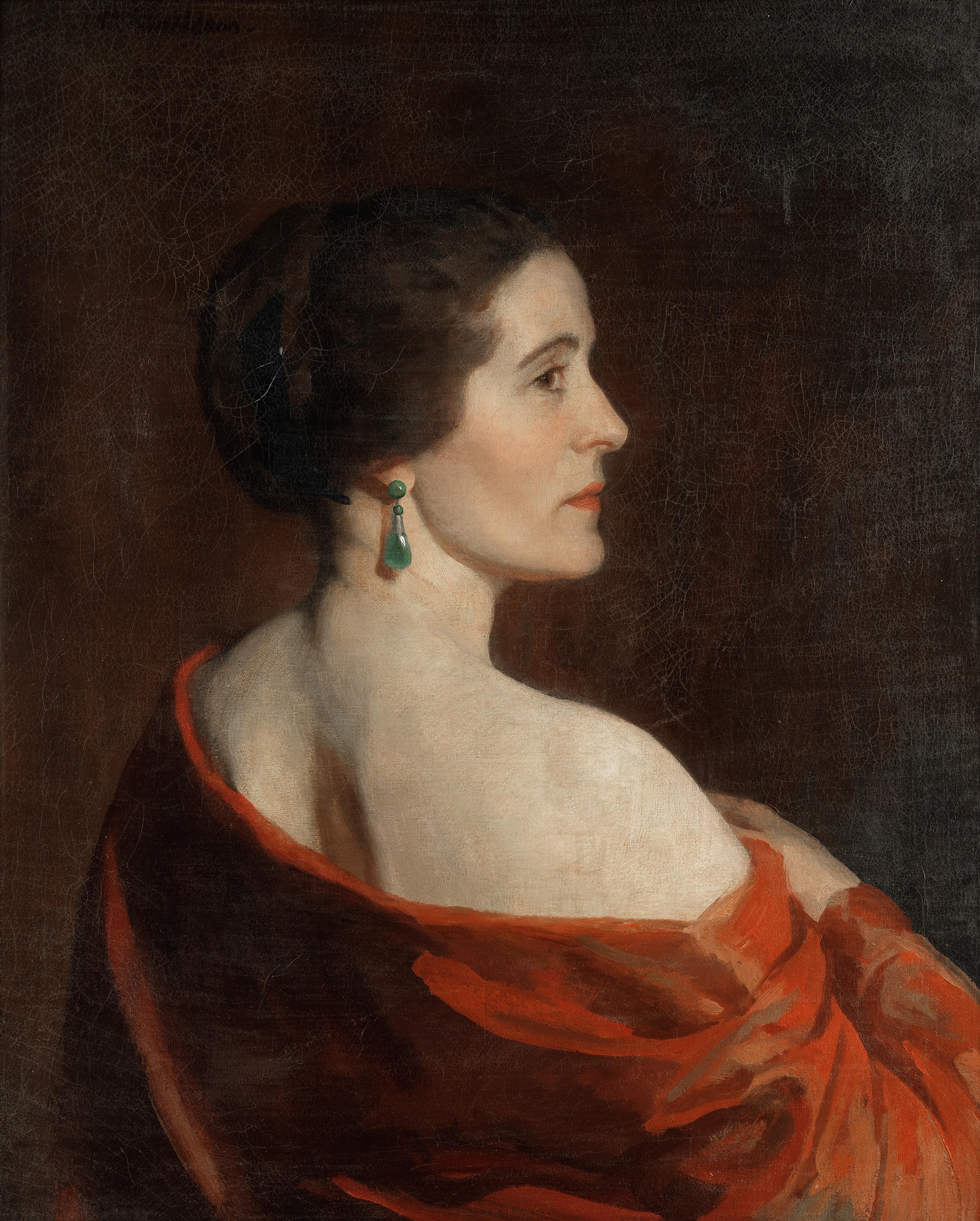 Thomas Martine Ronaldson (British, 1881-1942) Portrait of a lady, thought to be Dorothy Vane