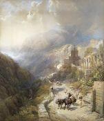 Thomas Miles Richardson, R.W.S. (British, 1813-1890) 'Convent La Santa Trinta, Naples'