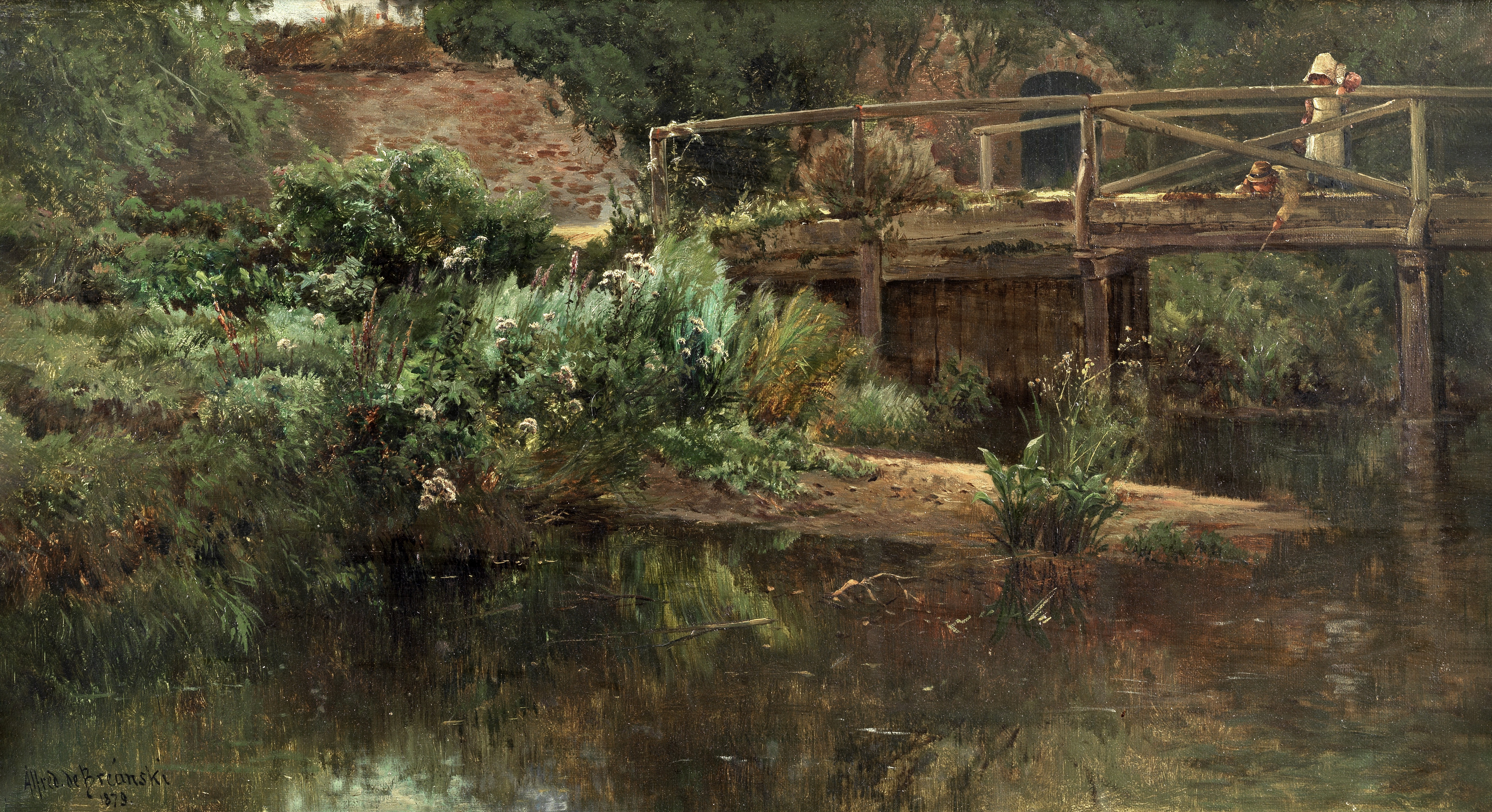Alfred de Bréanski (British, 1852-1928) 'The Limpid Stream'
