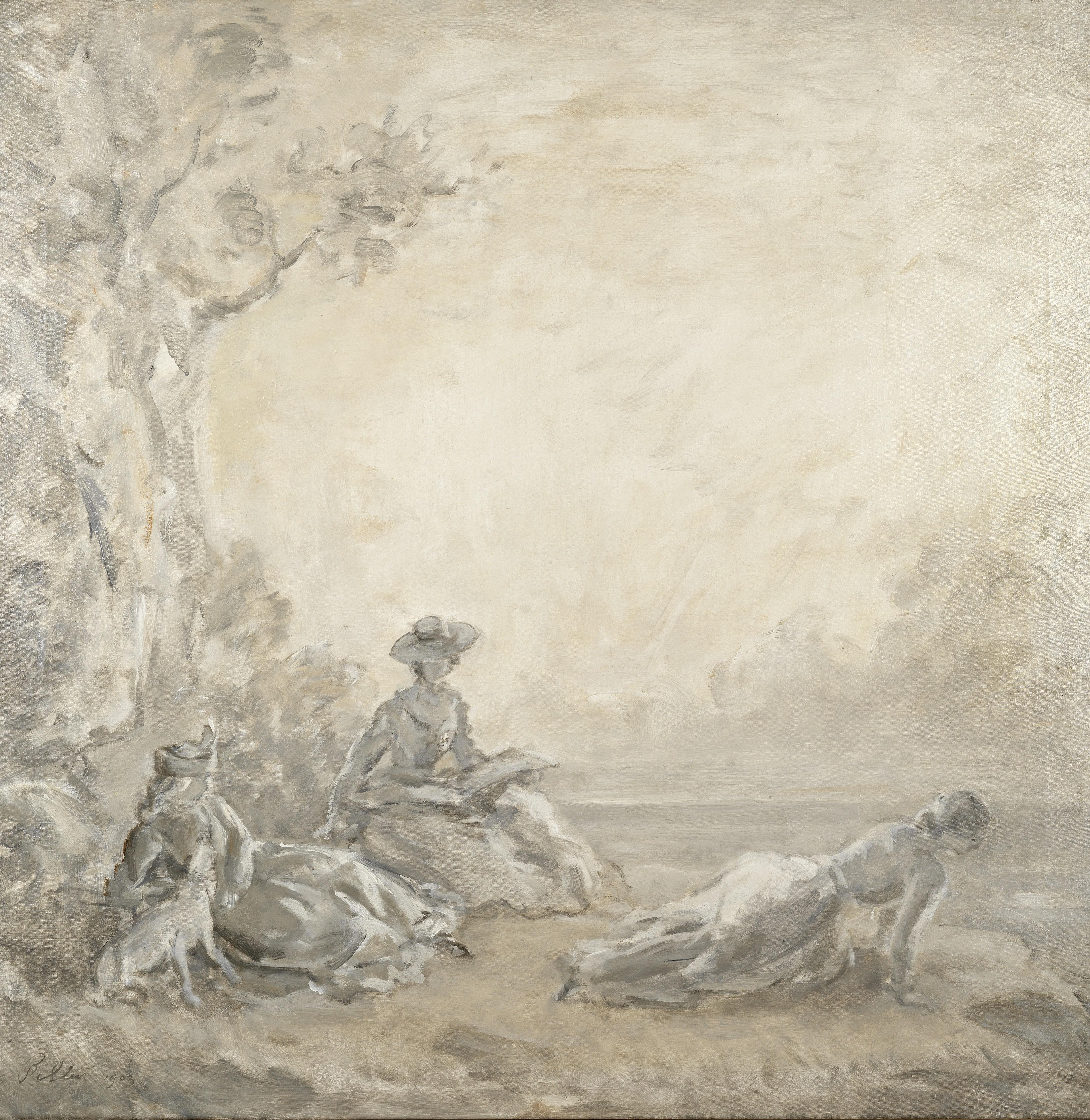 Philip Wilson Steer O.M., N.E.A.C. (British, 1860-1942) A midsummer day