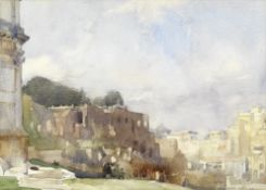 Sir William Russell Flint R.A., P.R.W.S. (1880-1969) 'Rome, The Palatine and Forum from the Arch ...