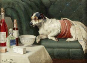 William Henry Hamilton Trood (British, 1860-1899) The model patient