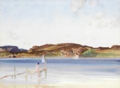 Sir William Russell Flint R.A., P.R.W.S. (1880-1969) 'The beach across the sound'