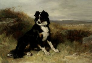 Attributed to Heywood Hardy (British, 1843-1933) Guardian of the flock