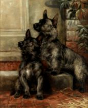 Fannie Moody (British, 1861-1948) Scotties