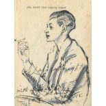 Dame Laura Knight, RA, RWS (British, 1877-1970) Amy Cadman, seated half-length, in profile, holdi...