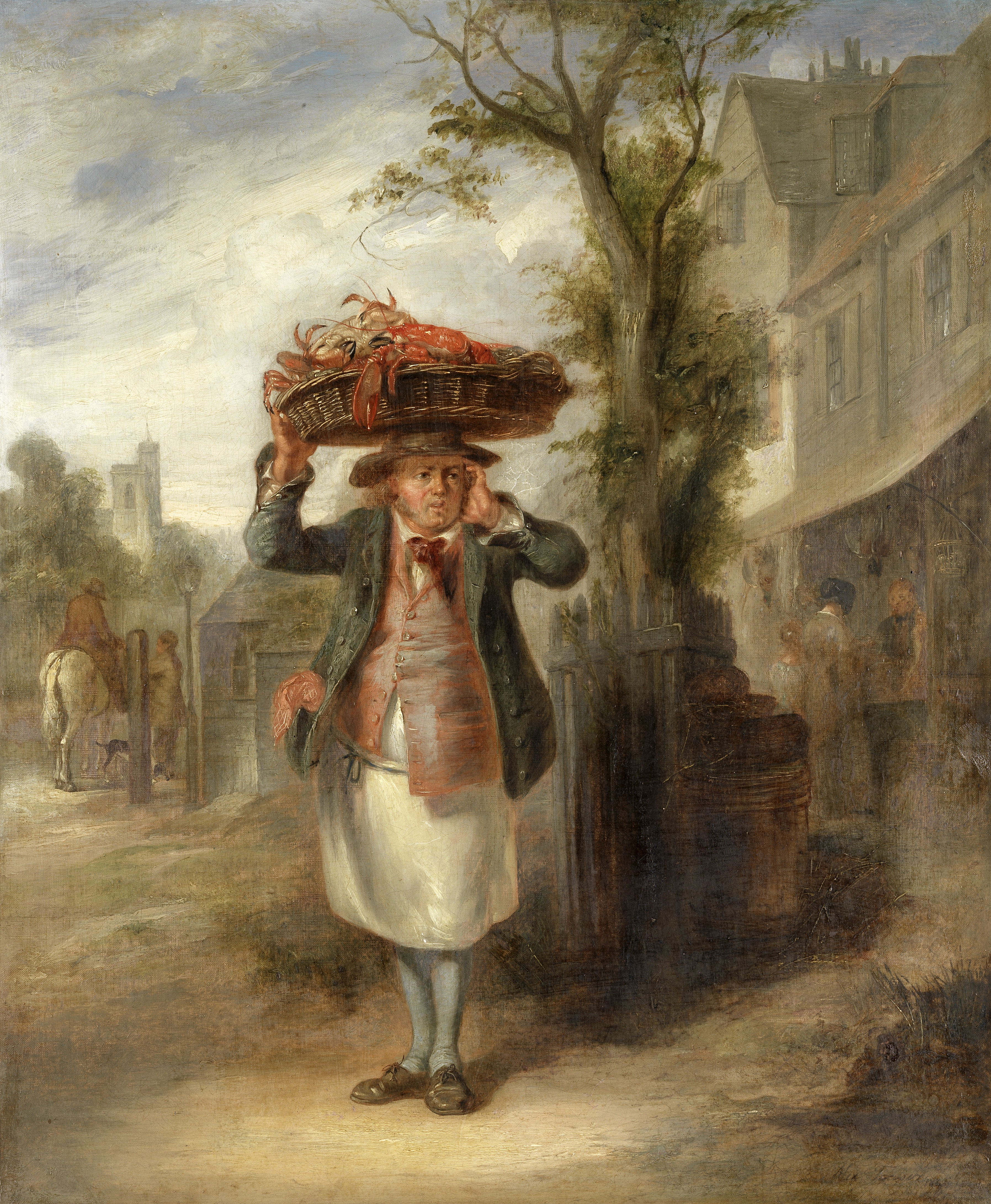 Alexander Fraser (British, 1786-1865) The lobster seller