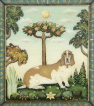 Marie Amalia (French, born 1961) A west highland white; A basset hound