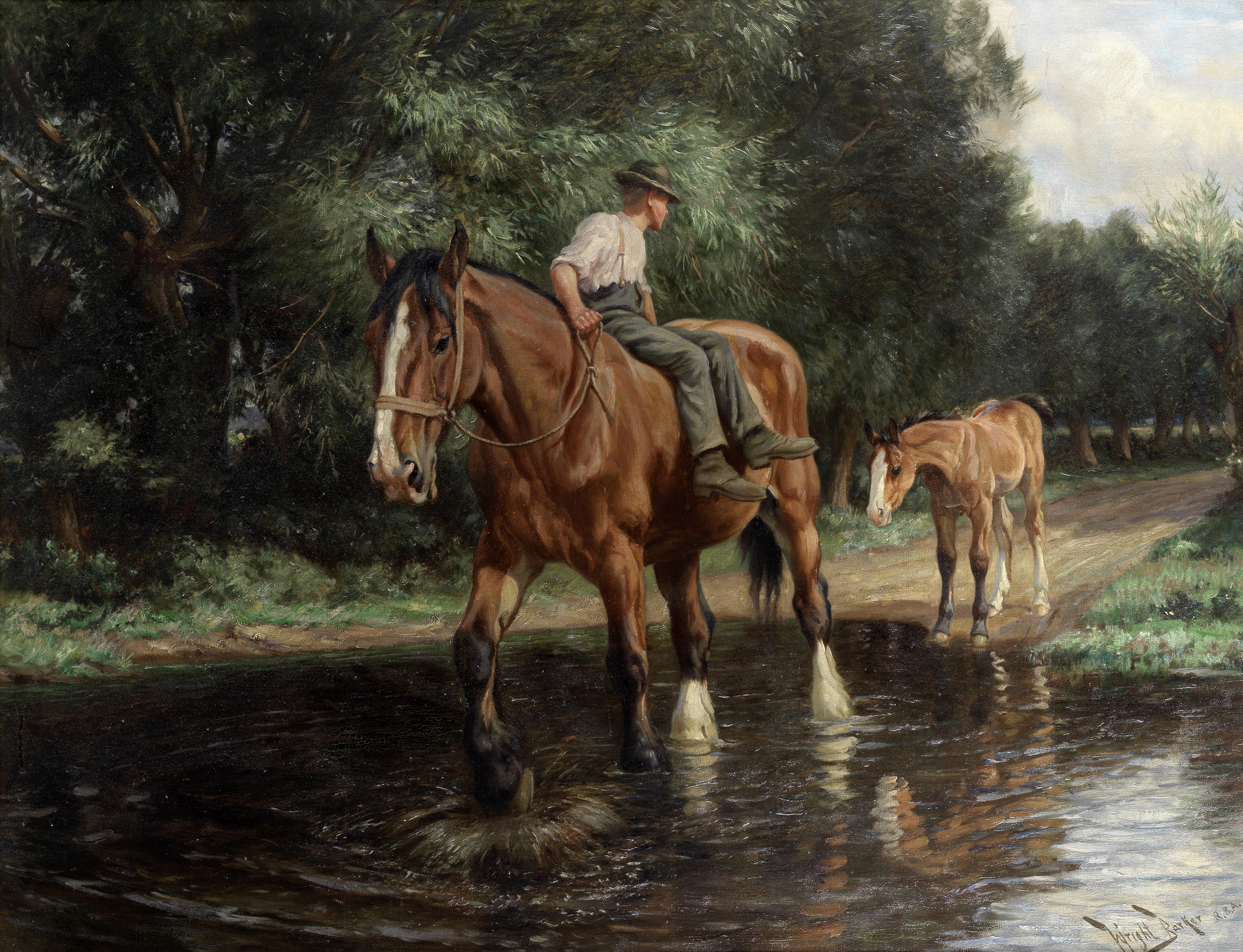 Wright Barker (British, 1863-1941) Hesitation