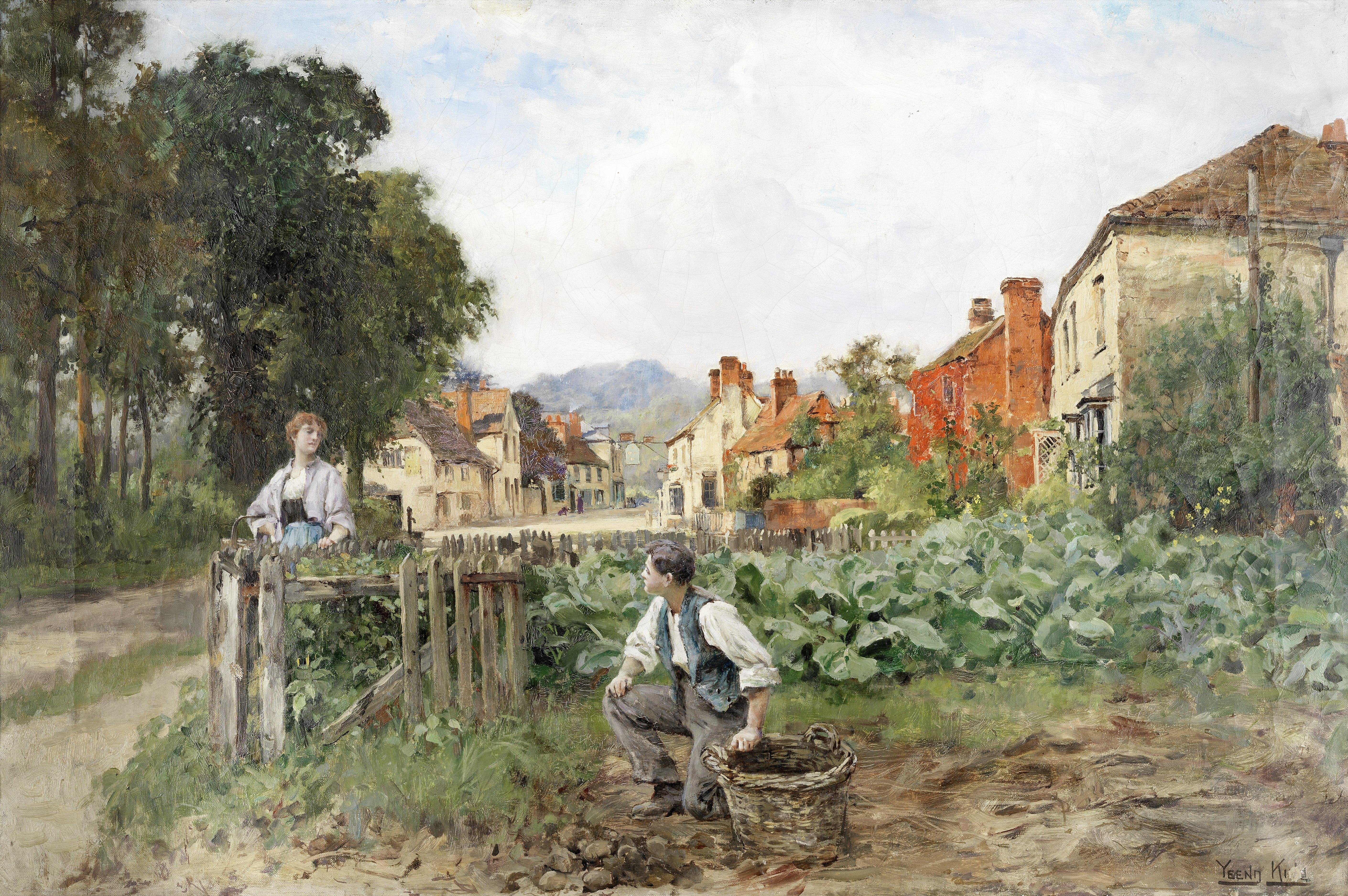 Henry John Yeend King, RBA, VPRI, ROI (British, 1855-1924) Rural courtship