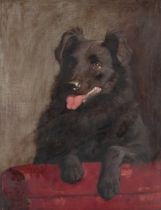R.B. HUNTER (British late 19th/early 20th century) Waiting in readiness