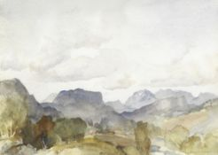 Sir William Russell Flint R.A., P.R.W.S. (1880-1969) 'The exquisite Geroanne Valley'