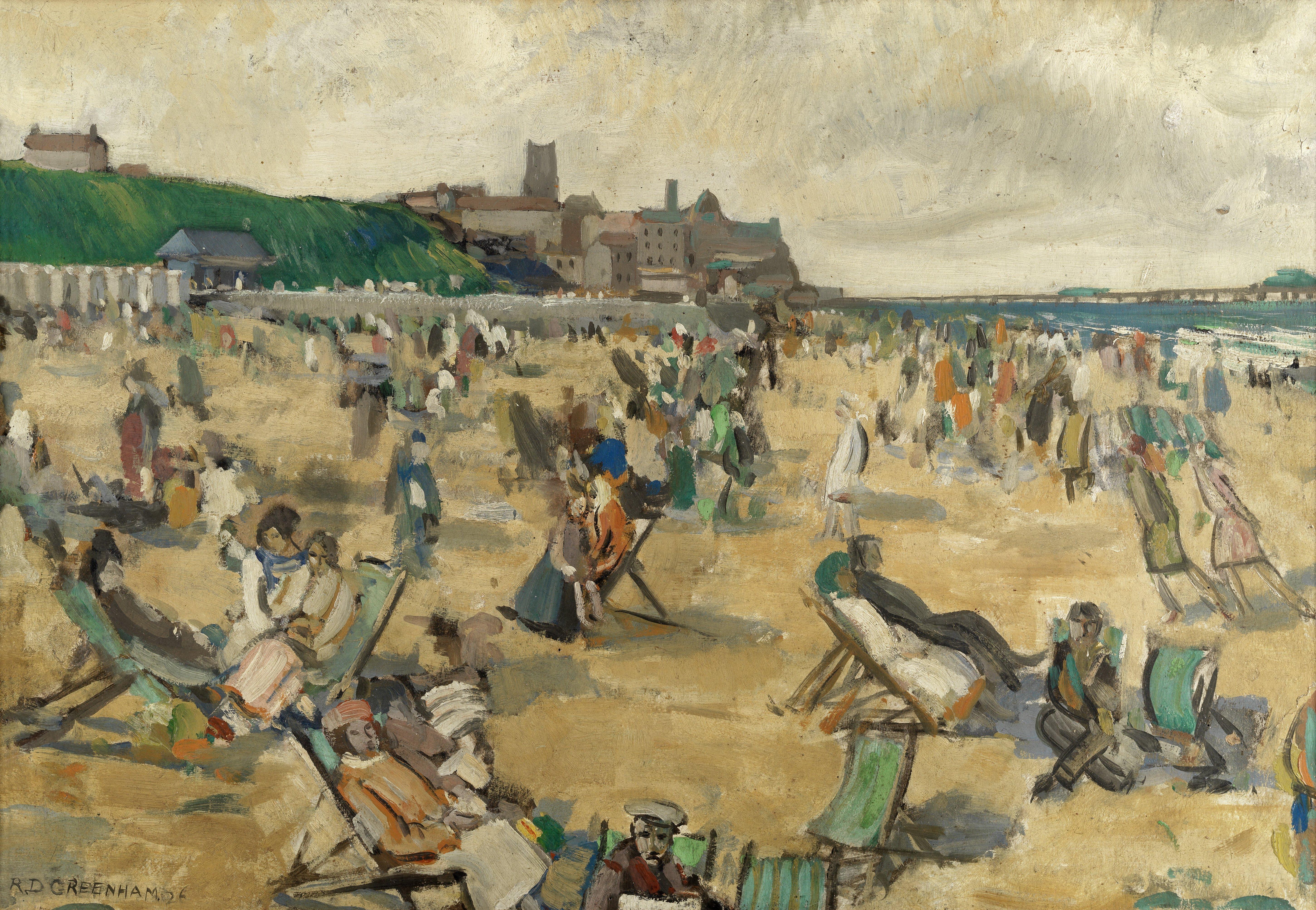 Robert Duckworth Greenham (British, 1906-1975) Cromer beach, midsummer