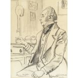 Dame Laura Knight, RA, RWS (British, 1877-1970) 'Cedric Hardwicke as Mr Barrett'