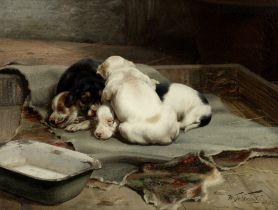 William Henry Hamilton Trood (British, 1860-1899) Little nestlings