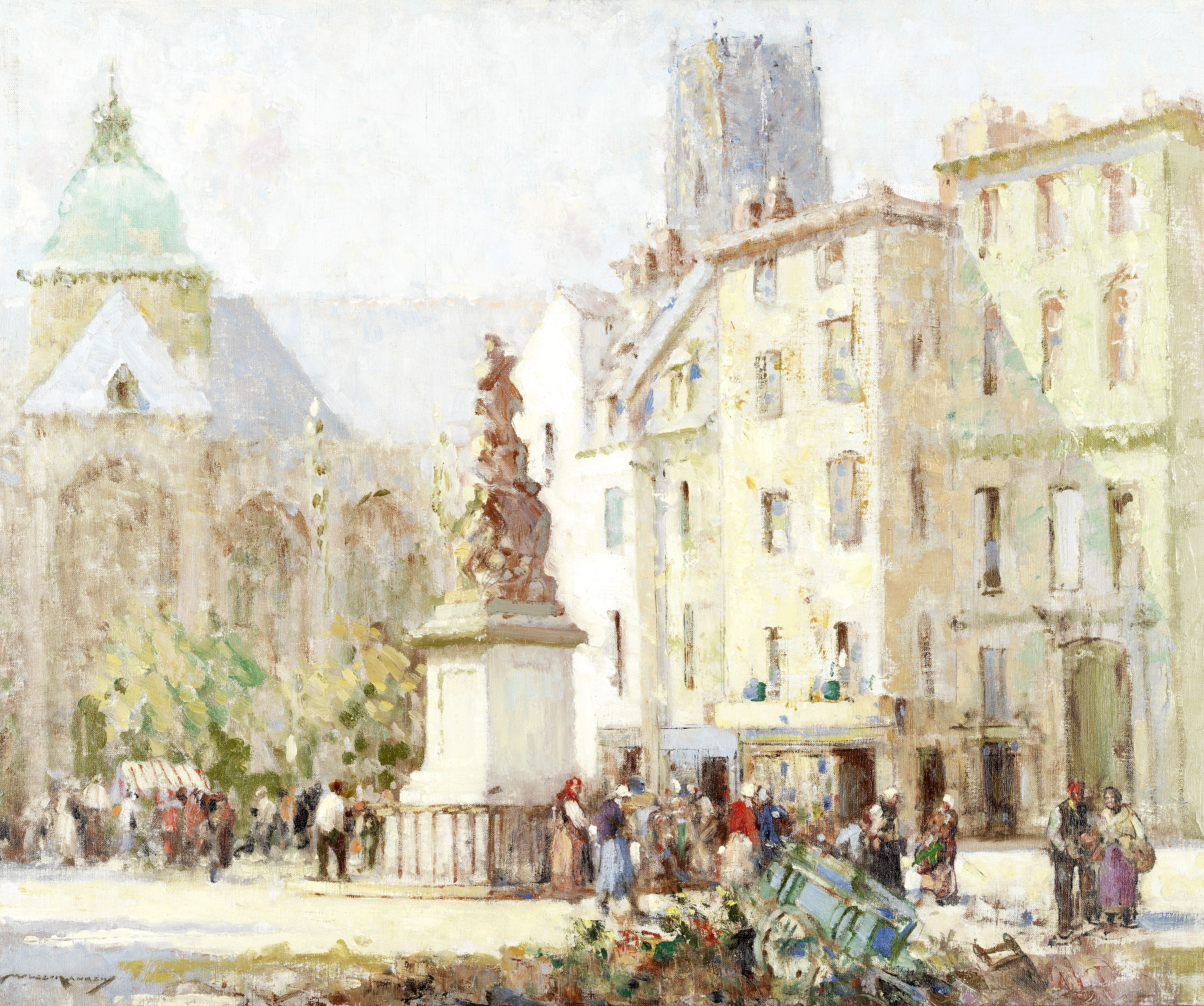 William Lee Hankey RWS, RI, ROI, RE (British, 1869-1952) The market, Dieppe