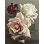 Irene Klestova (British, 1908-1989) Still life of roses