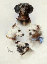 Carl Reichert (Austrian, 1836-1918) A motley crew