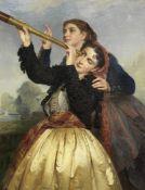 Henri Guillaume Schlesinger (French, 1814-1893) The Five Senses, Sight each 115.5 x 89.5cm (45 1/...
