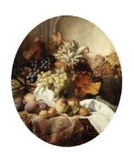 William Duffield (British, 1816-1863) Still life of fruit in a basket