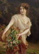 Abel Dominique Boye (French, 1864-1934) Gathering flowers