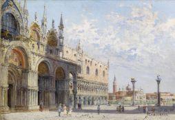 Antonietta Brandeis (Czech, 1849-1926) St. Mark's Church, Venice