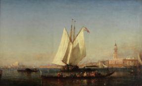 Félix François Georges Philibert Ziem (French, 1821-1911) Le bassin de Saint Marc (Pain...