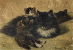 Henriette Ronner-Knip (Dutch, 1821-1909) A gentle provocation