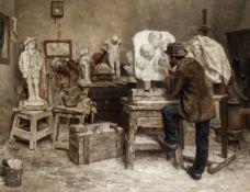 Evert Pieters (Dutch, 1856-1932) The sculptor Alphonse van Beurden in his studio