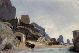 Louis Auguste Lapito (French, 1803-1874) Marina Piccola a Capri