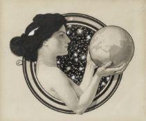 Frantisek Kupka (Czech, 1871-1957) La femme et la terre sight size 17 x 19.5cm (6 11/16 x 7 11/1...