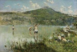 Arcadi Mas y Fondevila (Spanish, 1852-1934) Caught!