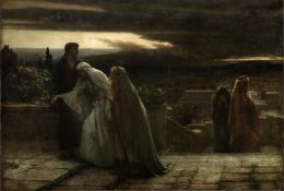 Herbert Gustave Schmalz (British, 1856-1935) The Return from Calvary unframed