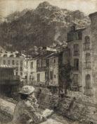 Léon Augustin Lhermitte (French, 1844-1925) Vue a Cauterets, Pyrenees 1881