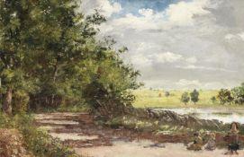 William Davis (British, 1812-1873) Pond near Highgate