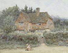 Helen Allingham, RWS (British, 1848-1926) A Surrey cottage