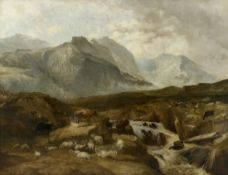 Thomas Sidney Cooper and Frederic Richard Lee, Mountain Scenery, North Wales, cm 127x162