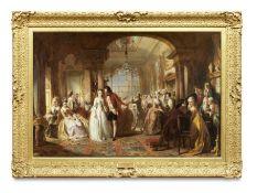 Abraham Solomon (British, 1824-1862) A Ballroom in the Year 1760