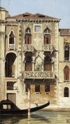 Antonietta Brandeis (Czech, 1849-1926) Palazzo on the Canal, Venice