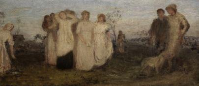 George Heming Mason (British, 1818-1872) Sketch for The Evening Hymn