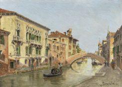 Antonietta Brandeis (Czech, 1849-1926) On a Venetian backwater