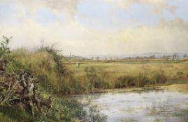 John Edward Newton RI (British, active 1835-1891) View near Sefton