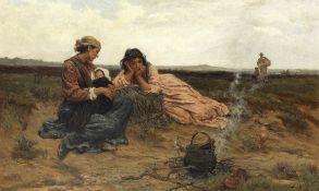 Frederick Morgan, ROI (British, 1847-1927) Under a changeful sky