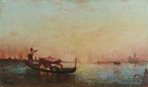 Félix François Georges Philibert Ziem (French, 1821-1911) Promenade en gondole sur la l...
